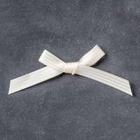 "Very Vanilla 3/8"" (1 cm) Stitched Satin Ribbon"