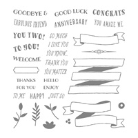 Banners For You Photopolymer Stamp Set