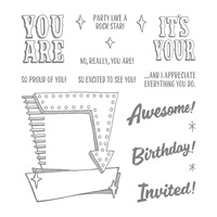 Marquee Messages Photopolymer Stamp Set