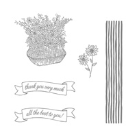 Basket for You Photopolymer Stamp Set