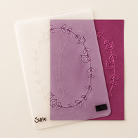 Pretty Paisleys Textured Impressions Embossing Folder