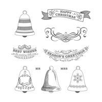 Seasonal Bells Wood-Mount Stamp Set