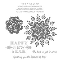 Frosted Medallions Clear-Mount Stamp Set