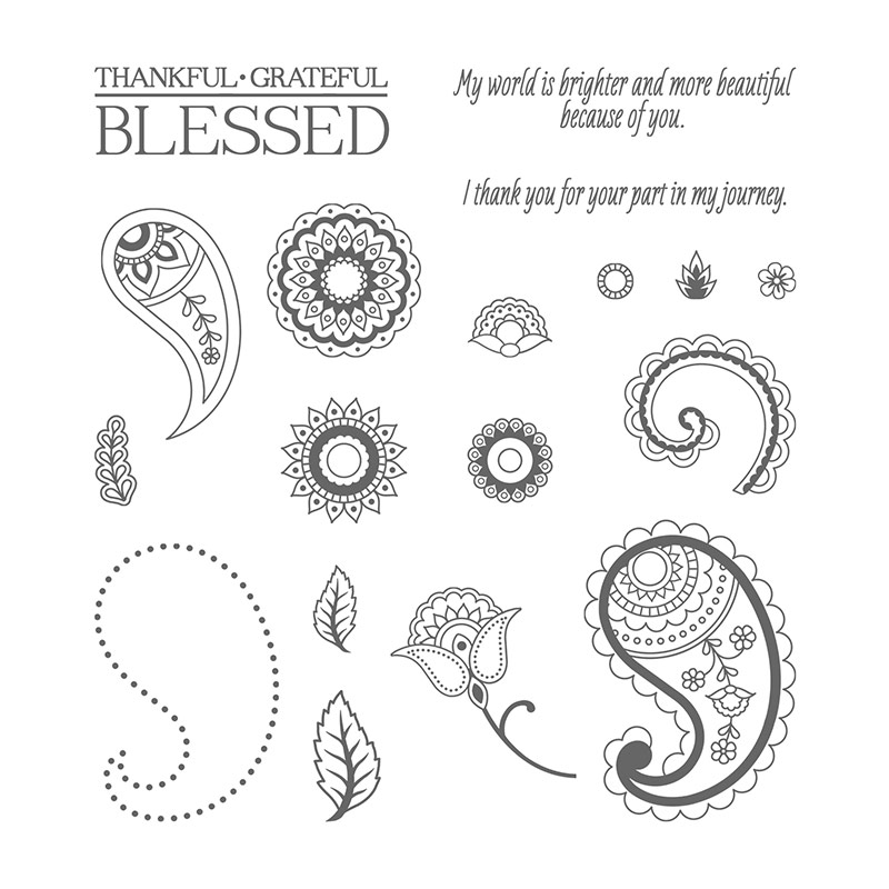 Paisleys & Posies Photopolymer Stamp Set