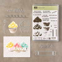 Cupcake für dich Bundle de photopolymère (allemand)