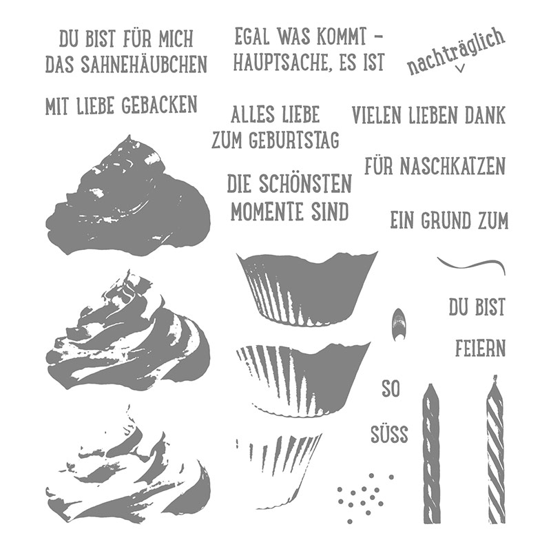 Cupcake Für Dich Photopolymer Stamp Set (German)