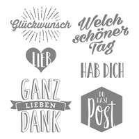 Post-für dich Clear-Mount Stamp Set (allemand)
