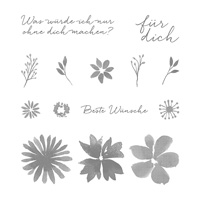 Durch die Blume Photopolymer Stamp Set (German)