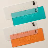 Celebrations Duo Textured Impressions Embossing Folders