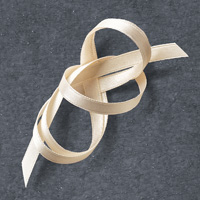 "Very Vanilla 1/4"" (6.4 mm) Satin Ribbon"