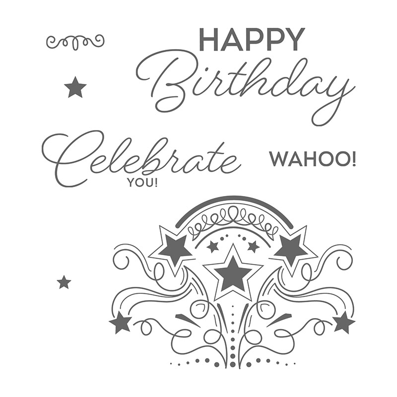 Birthday Blast Clear-Mount Stamp Set