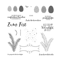 Tannenzauber Photopolymer Stamp Set (German)