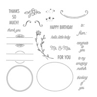 C'est le Tag Photopolymer Stamp Set