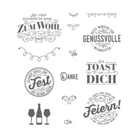 Nette Etiketten Clear-Mount Stamp Set (German)