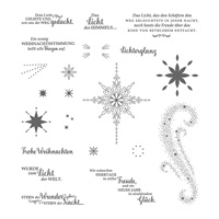 Weihnachtsstern Photopolymer Stamp Set (German)