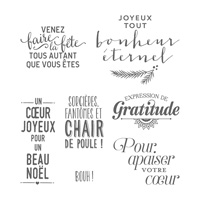 Souhaits coordonnés Clear-Mount Stamp Set (French)