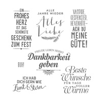 Freude für die Feiertage Clear-Mount Stamp Set (German)
