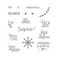 Coffret d'étiquettes Photopolymer Stamp Set (French)