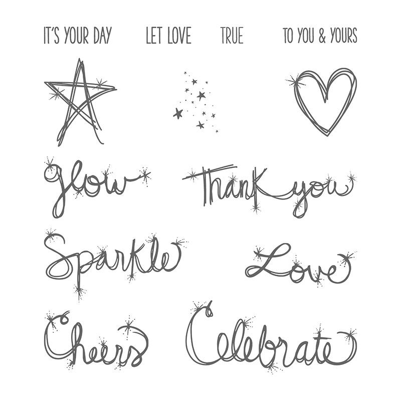 Love Sparkles Clear-Mount Stamp Set