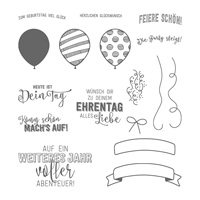 Ballonparty Photopolymer Stamp Set