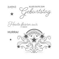 Geburtstagsfeuerwerk Clear-Mount Stamp Set