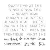 À Souligner Photopolymer Stamp Set (French)