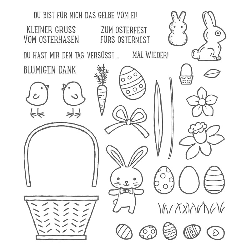 Osterkörbchen Photopolymer Stamp Set
