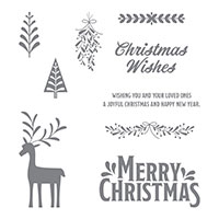 Merry Mistletoe Clear-Mount Stamp Set