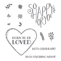Born to Be Loved Wood-Mount Stamp Set