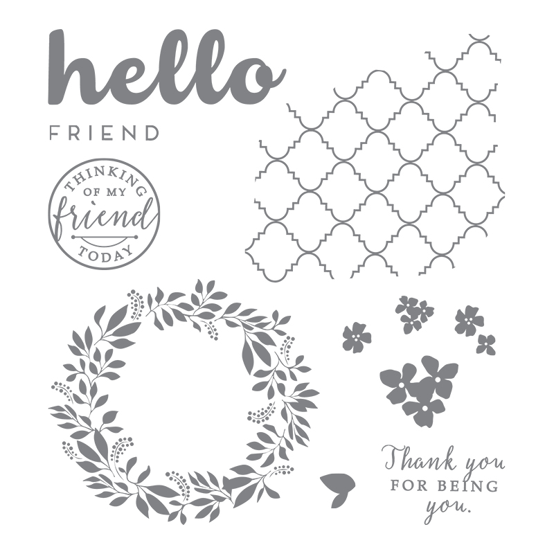 Hello Friend Clear-Mount Stamp Set