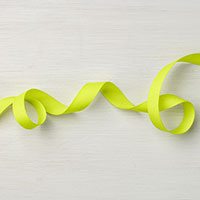 "Lemon Lime Twist 1/2"" Finely Woven Ribbon"