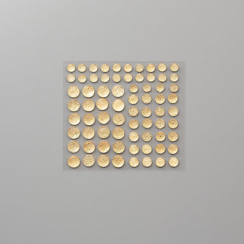 Gold Faceted Gems