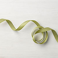 Old Olive 3/8 Mini Chevron Ribbon
