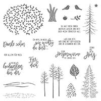 Wald der Worte Clear-Mount Stamp Set (German)