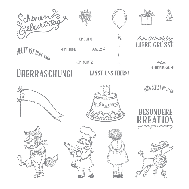 Geburtstagskreation Photopolymer Stamp Set (German)