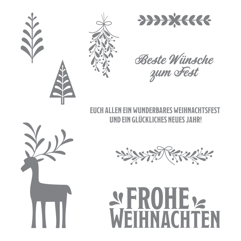 Unterm Mistelzweig Clear-Mount Stamp Set (German)