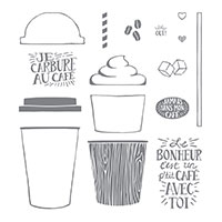 Café à emporter Photopolymer Stamp Set (French)