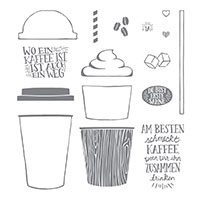 Kaffee, olé! Photopolymer Stamp Set (German)