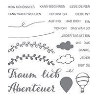 Lebe deinen Traum Photopolymer Stamp Set (German)