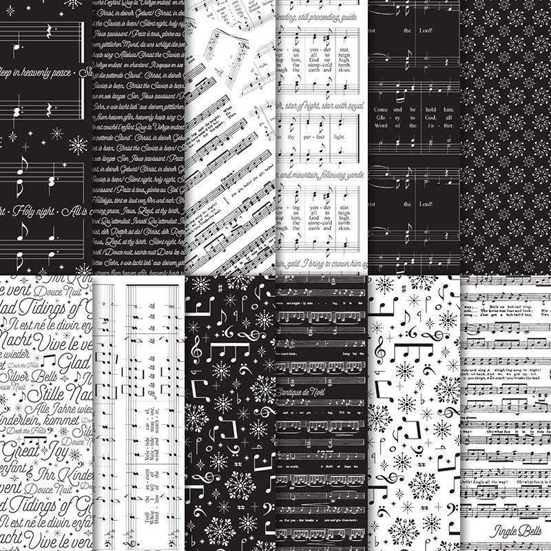 Besonderes Designerpapier Weihnachtslieder