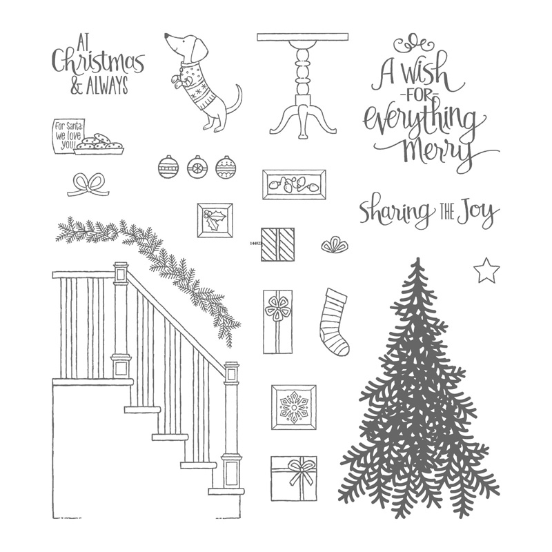 Ready For Christmas Photopolymer Stamp Set By Stampin Up