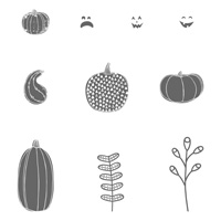 Pick a Pumpkin Clear-Mount Stamp Set