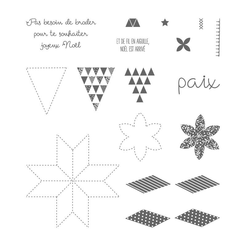 L'étoffe de Noël Photopolymer Stamp Set (French)