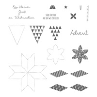 Weihnachtsquilt Photopolymer Stamp Set (German)
