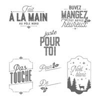 Joyeuses petites étiquettes Clear-Mount Stamp Set (French)