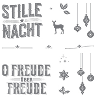 Wie ein Weihnachtslied Clear-Mount Stamp Set (German)