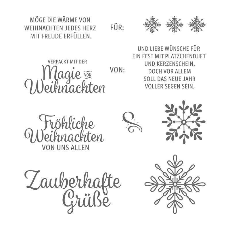 Winterwunder Clear Mount Stamp Set German By Stampin Up