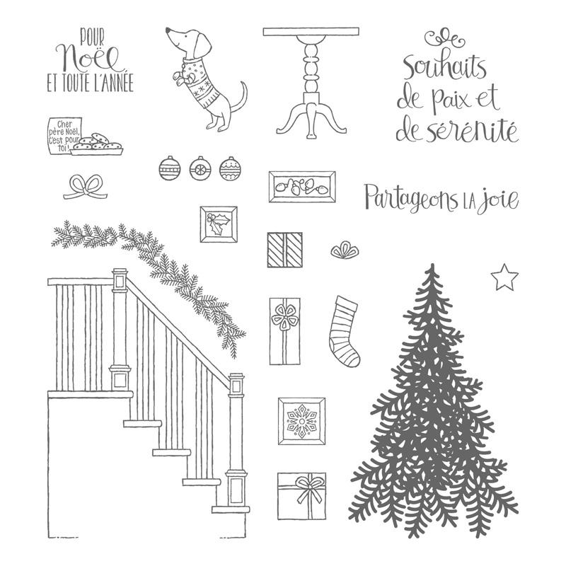 Prêts pour Noël Photopolymer Stamp Set (French)