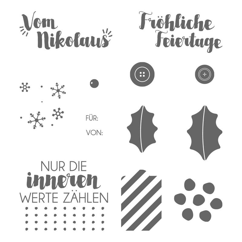 Gut geschmückt Clear-Mount Stamp Set (German)
