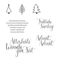 Malerische Weihnachten Clear-Mount Stamp Set (German)